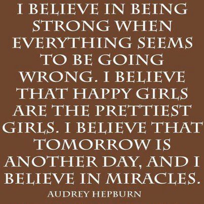 The very beautiful and wise Audrey Hepburn
